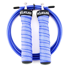 MUEUSS Jump Rope Professional High Speed Skipping With Portable Bag Skip Anti-Slip Handle For Double Under In Blue