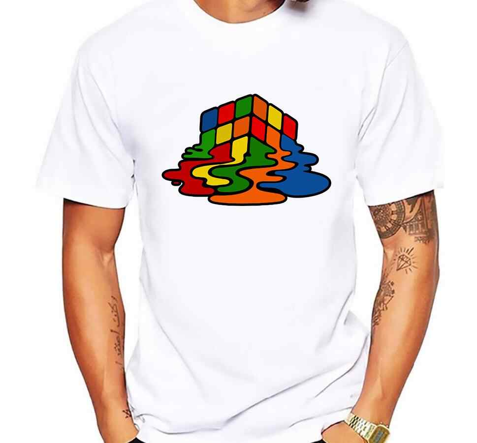 2019 Summer New Men T-Shirts The Big Bang Theory Printed Stylish Design Rubik Cube T Shirts Casual 100% Cotton Short Sleeve Tees