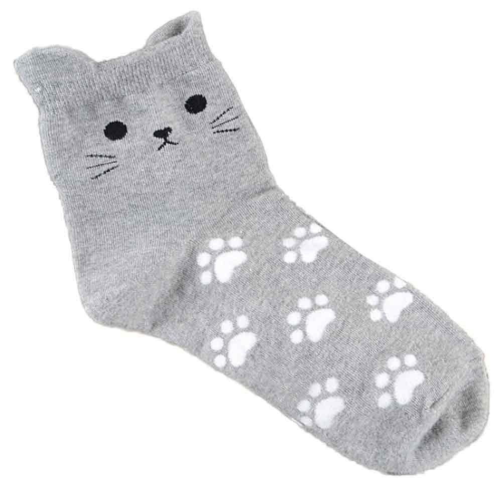 KANCOOLD Cat Footprints Socks Fashion Cotton Tube Cute Women's Socks Casual Autumn Outdoor Comfortable Hosiery 2019 Mar22