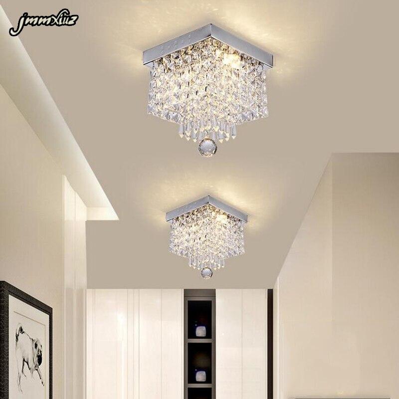 אופנה כיכר קריסטל led נברשות LED מנורות מסעדת מסדרון גבוהה כוח LED נברשת led זוהר אור נברשות