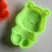 Venda por atacado/varejo, transporte livre, 1 PCS molde do bolo do silicone urso