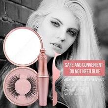 New Trendy Magnetic Liquid Eyeliner & False Eyelashes Waterproof Long Lasting with Tweezers