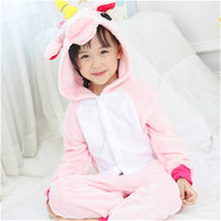 Dropshipping For Girls Boys Winter Unicorn Children Pajama Set Flannel Animal Cartoon Kids Clothes Cute Pyjama