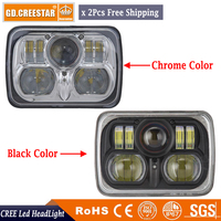 Universal 7x6 54W Square High Low Beam H4 CREESTAR For XJ Projector Headlights 6 X 7