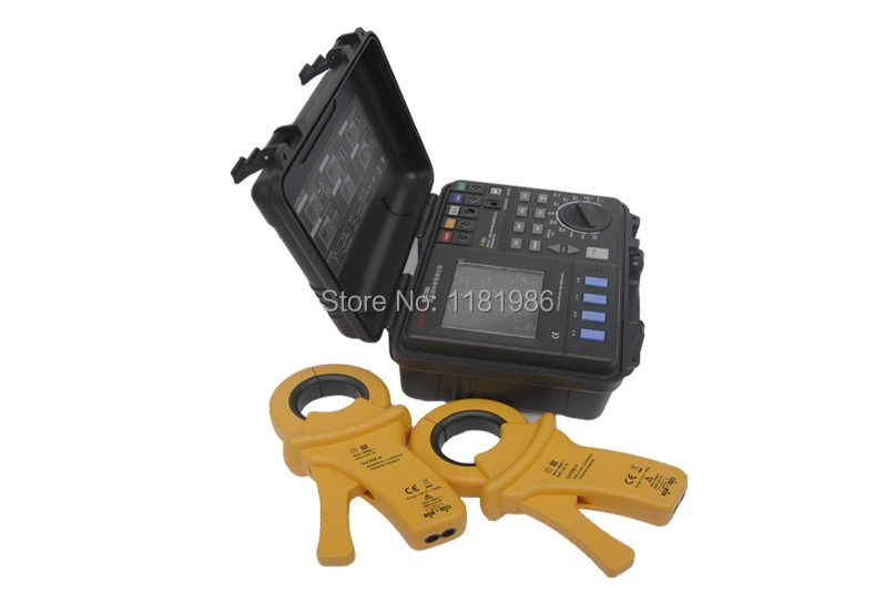 2 Clamp 4 Current Leakage kit Intelligent Ground Earth Resistance Tester Meter Soil Resistivity 2/3/4 Pole USB2.0 MASTECH MS2307