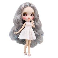 ICY DBS lalki Blyth 1/6 bjd biała skóra wspólne body piękne mieszane kolor loki włosów nowy matowy twarz z brwi Lip połysk sd zabawki