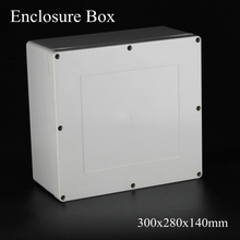 (1 piece/lot) 300x280x140mm Grey ABS Plastic IP65 Waterproof Enclosure PVC Junction Box Electronic Project Instrument Case