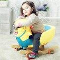 Música agite Trojan de madeira real Ma Baobao das crianças presentes brinquedos do bebê cadeira de balanço do carro