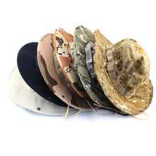 Outdoor Bucket Hats Mens Jungle Military Camouflage Bob Camo Bonnie Hat Camping Barbecue Cotton Mountain Climbing Fishing Caps
