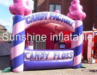 Hot Sale 13ft portable oxford Inflatable Candy Floss Inflatable booth tent inflatable Popcorn Stall for advertising