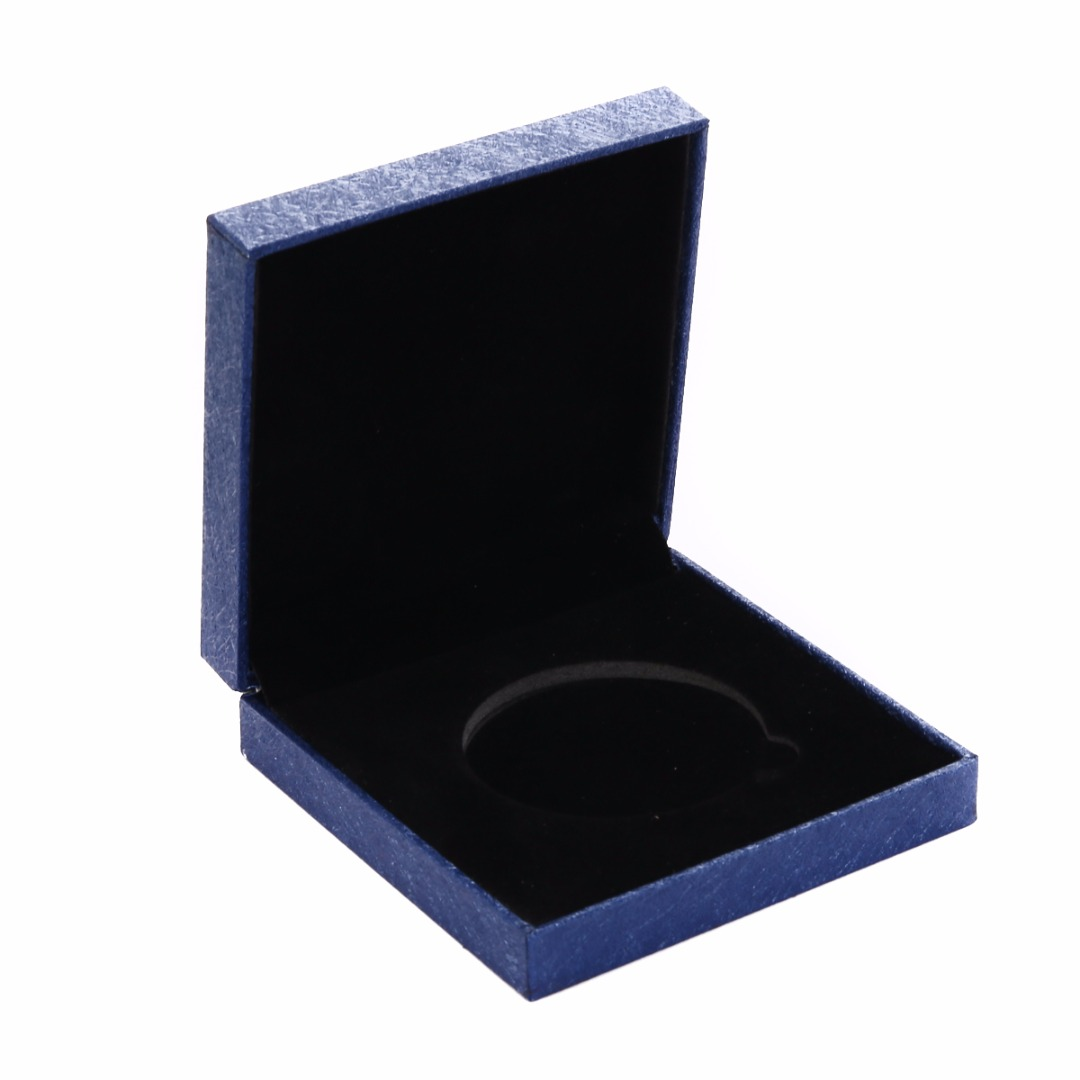 Coin Case for 38MM Coin Blue Display Box w// Double Clear Capsule Collections
