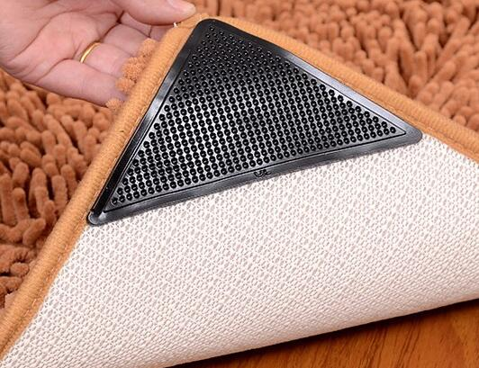 4PCS/SET Keep Rugs Mats In Place Without Leaving Any Messy Residue Carpet Stick Anti-skid Fixed Ground Silicon Mat