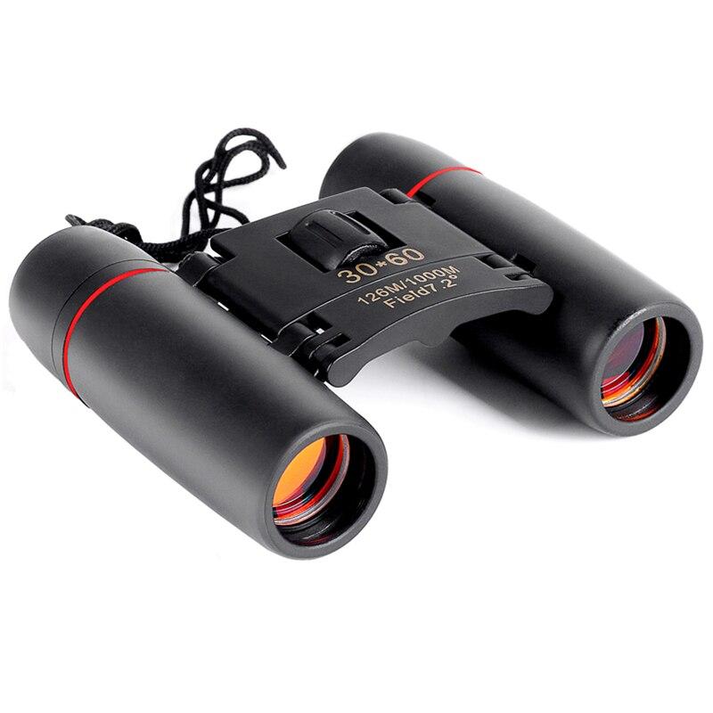 Zoom telescopio 30x60 plegable binoculares con baja luz de visión nocturna para la observación de aves al aire libre viajar caza camping 2018