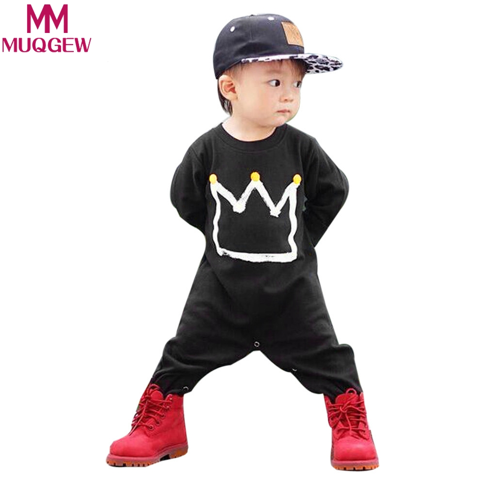 MUQGEW Newborn Infant Baby Boys Girls Print Romper Jumpsuit  Clothes Outfits FOR boy girl children clothing party dress winter baby girl 1st birthday outfits short sleeve infant clothing sets lace romper dress headband shoe toddler tutu set baby s clothes