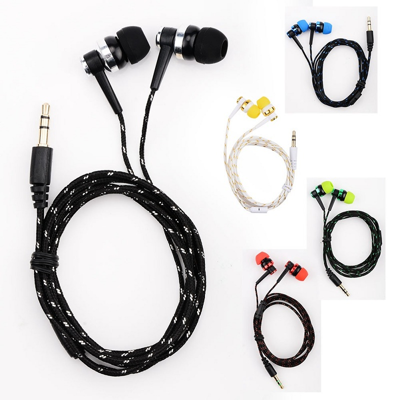 MP3 MP4 Wiring Subwoofer Headset Braided Rope Wire Cloth Rope Noise ...
