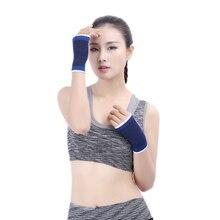 1 пара унисекс синий ладонь суппорт на запястье Прихватки для мангала Спорт на открытом воздухе эластичные эластичный рукав спорт бинты перчатки защиты