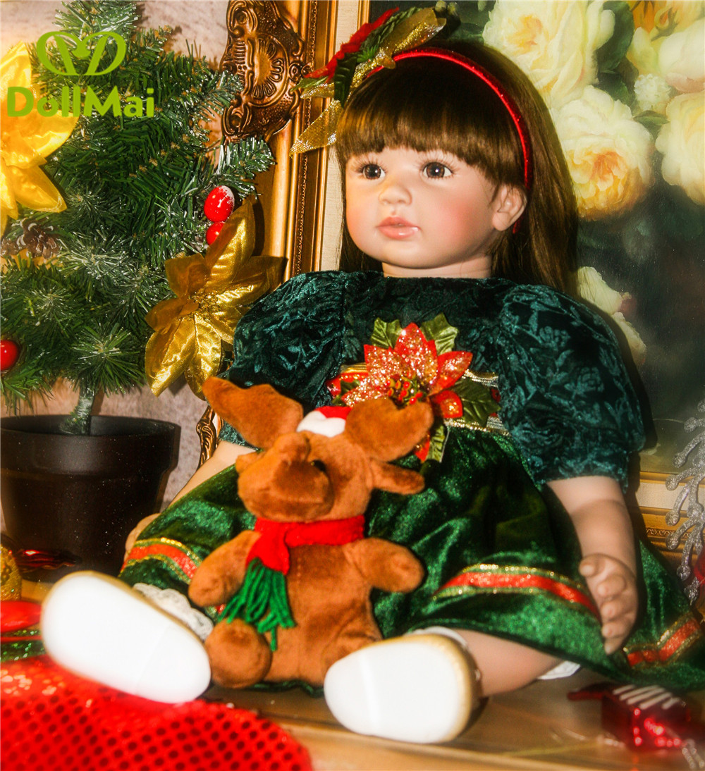 DollMai 24/60 cm Baby Alive Silicone Reborn Baby Toddler Princess Girl Dolls Toys for Children Girls Adorable Birthday Gift   DollMai 24/60 cm Baby Alive Silicone Reborn Baby Toddler Princess Girl Dolls Toys for Children Girls Adorable Birthday Gift