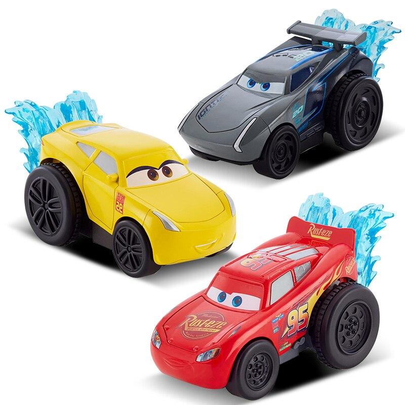 Disney children Cars 3 hotwheels Pull back car 1:55 pixar cars kids toys jackson storm Car model rayo mcqueen 8.5*4.8*4.5cm