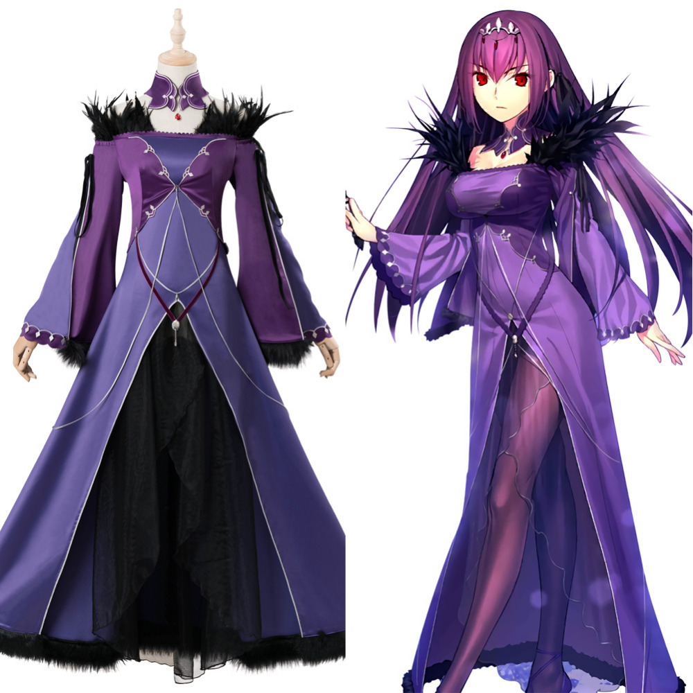 FGO Scathach Skadi Cosplay Costume Fate Grand Order Caster Costume Halloween Carnival Party Costumes Women Adult