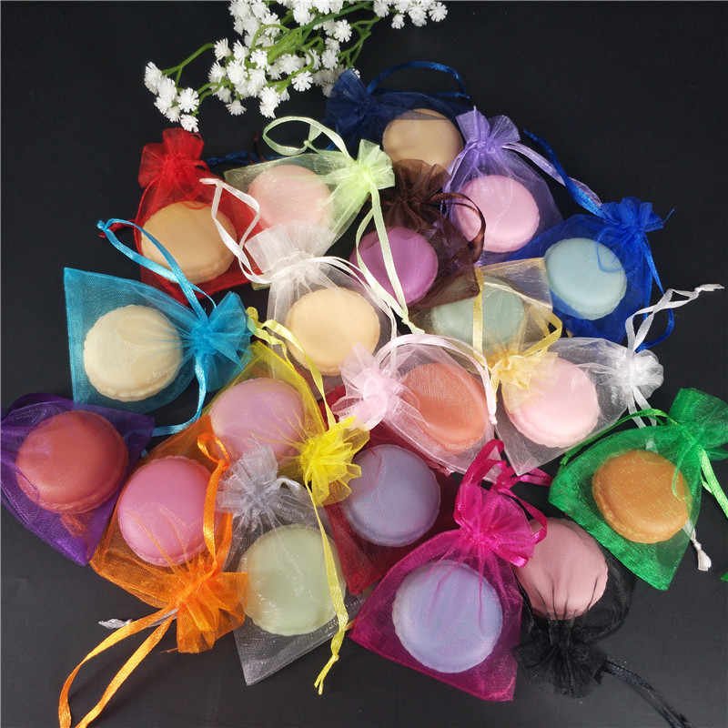 50pcs dragees Organza Bags Solid Colors Jewelry Packaging Drawable Gift Bags & Pouches Hot Sale Jewelry Packing Bags gift box 6z