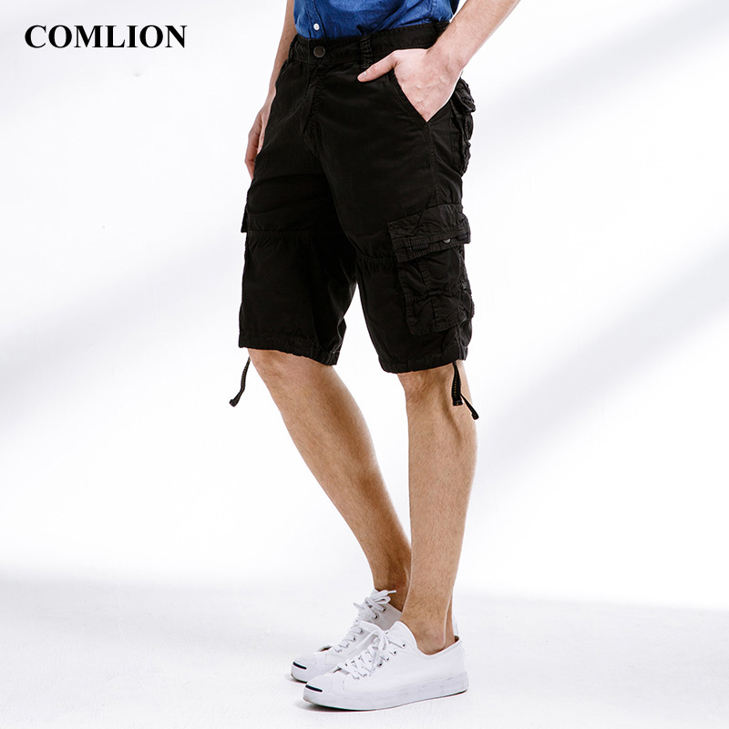 2018 Cargo Shorts Men Fashion Beach Military Army Casual Combat New Brand Multi Pockets Clothing Solid Color Cotton Plus Size F9Casual Shorts   -