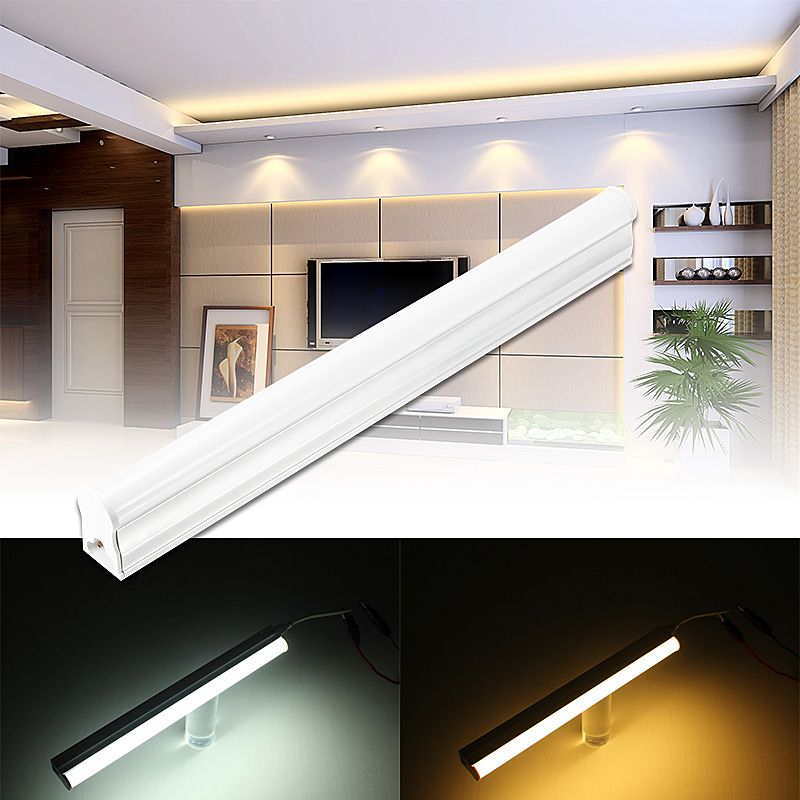 T5 30cm 5W 1600Lm Pure White Warm White 48 SMD 2835 LED Strip Tube Light AC220V Led Wall Lamp for Indoor Bedroom Decoration Lamp