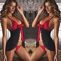 gauze sling bow before the split flounce nightwear sexy lingerie hot huarache air 2016 lingerie sexy hot erotic latex catsuit