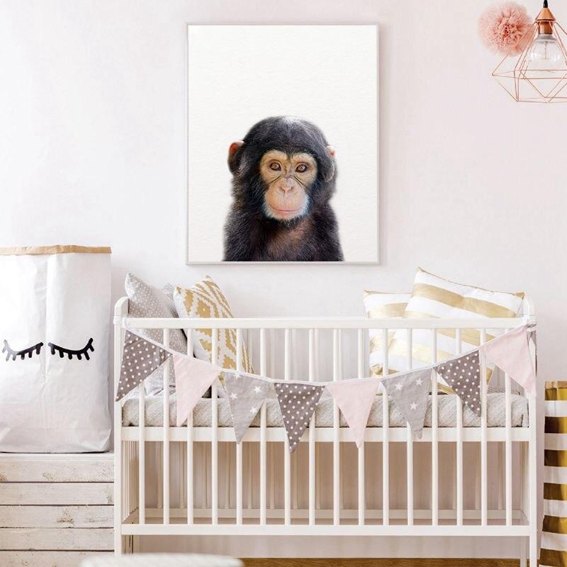 HTB1jYf6XL1TBuNjy0Fjq6yjyXXa1 Lion Zebra Elephant Giraffe Baby Animals Art Print Poster, Safari Animals Picture Canvas Painting Kids Room Nursery Wall Decor