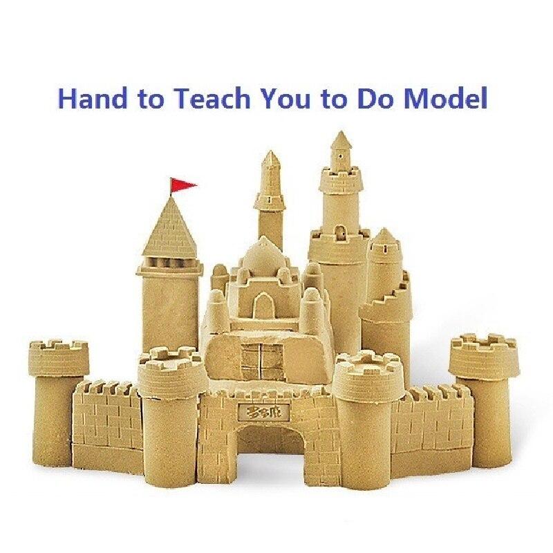 Offre spéciale haute qualité 1000g dynamique magique sable et 50 pcs moule outils incroyable bricolage jouets éducatifs sans gâchis jouets d'intérieur pour enfants - 2