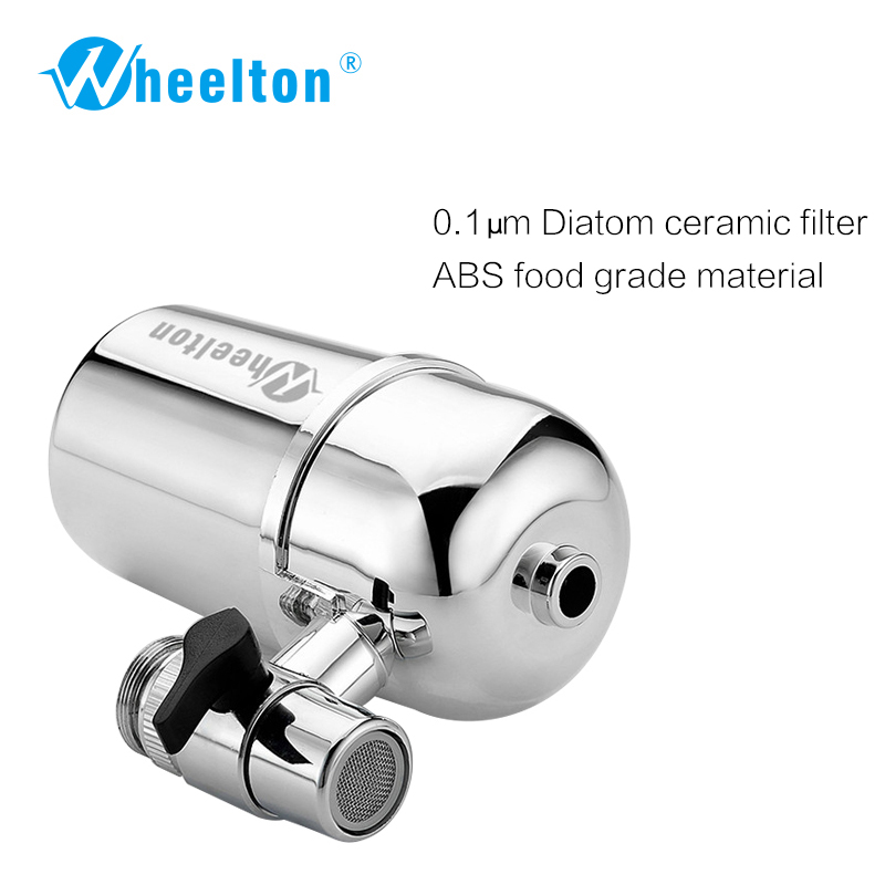 Wheelton Kitchen Water Filter Faucet(F-102-2E) Water Ionier Remove Water Contaminants Alkaline Water Ceramic Cartridge Purifier
