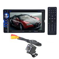 Car DVD CD Player Bluetooth Radio Double 2 Din 6.2 In Dash Stereo with High / Bass Electronic Control jul13