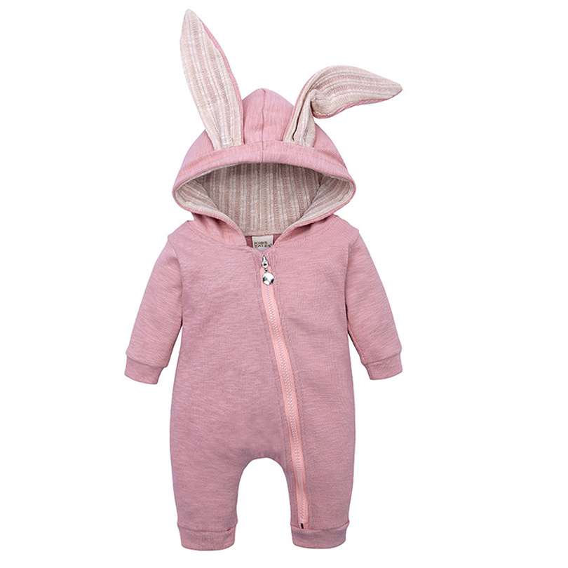 Newborn Baby Girls Boys Clothing Romper Cotton Long Sleeve Jumpsuit Playsuit Bunny Outfits One Piecer 3D Ear Clothes