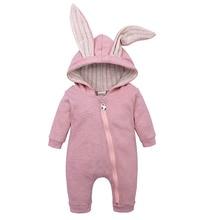 Newborn Baby Girls Boys Clothing Romper Cotton Long Sleeve Jumpsuit Playsuit Bun
