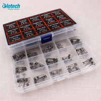 Glotech 15 In 1 Prebuilt Coils Tiger Alien Fused Clapton Staircase Juggernaut Twisted Coil Fit DIY