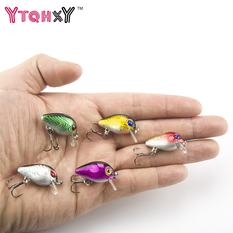 YTQHXY 5pcs/lot 1.5g 30mm Crankbait Fishing lures Plastic Hard Crank Bait 0.1-0.5m Mini Fly Fishing Lure  YE-4DBZY wldslure 1pc 54g minnow sea fishing crankbait bass hard bait tuna lures wobbler trolling lure treble hook