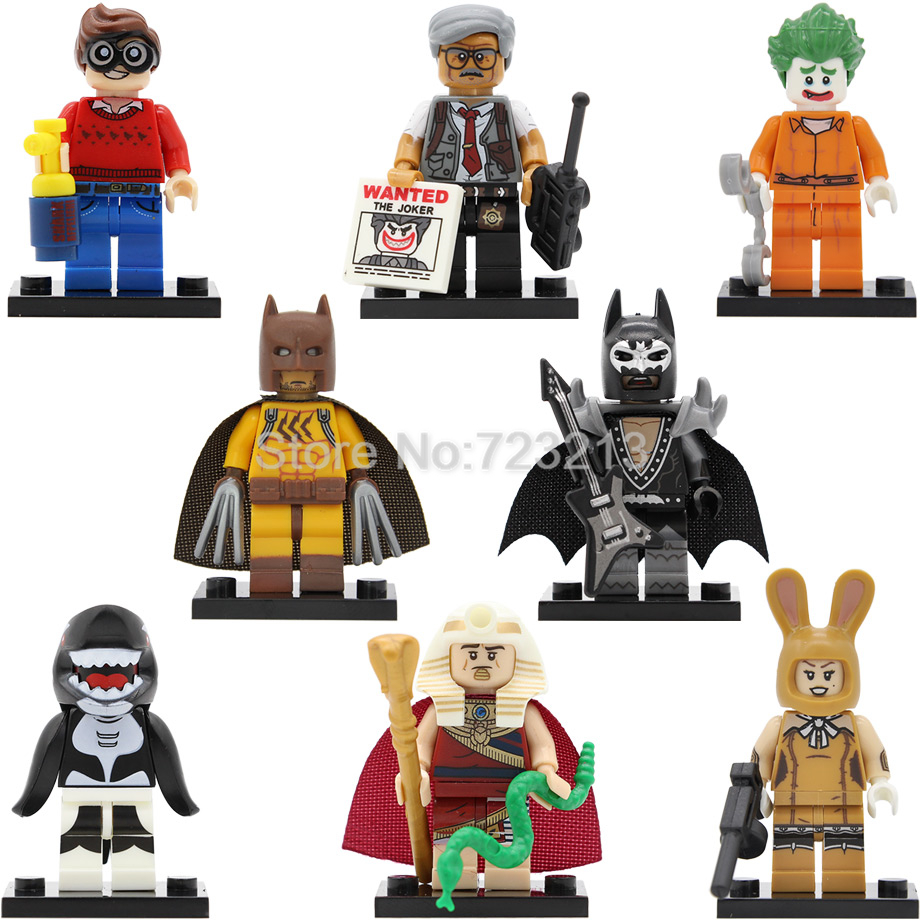 Single sale Orca Shark Glam Metal Batman Figure Catman Dick Gordon March Harriet Joker King Tut DC Building Blocks Model Toys футболка il gufo il gufo il003egrho56