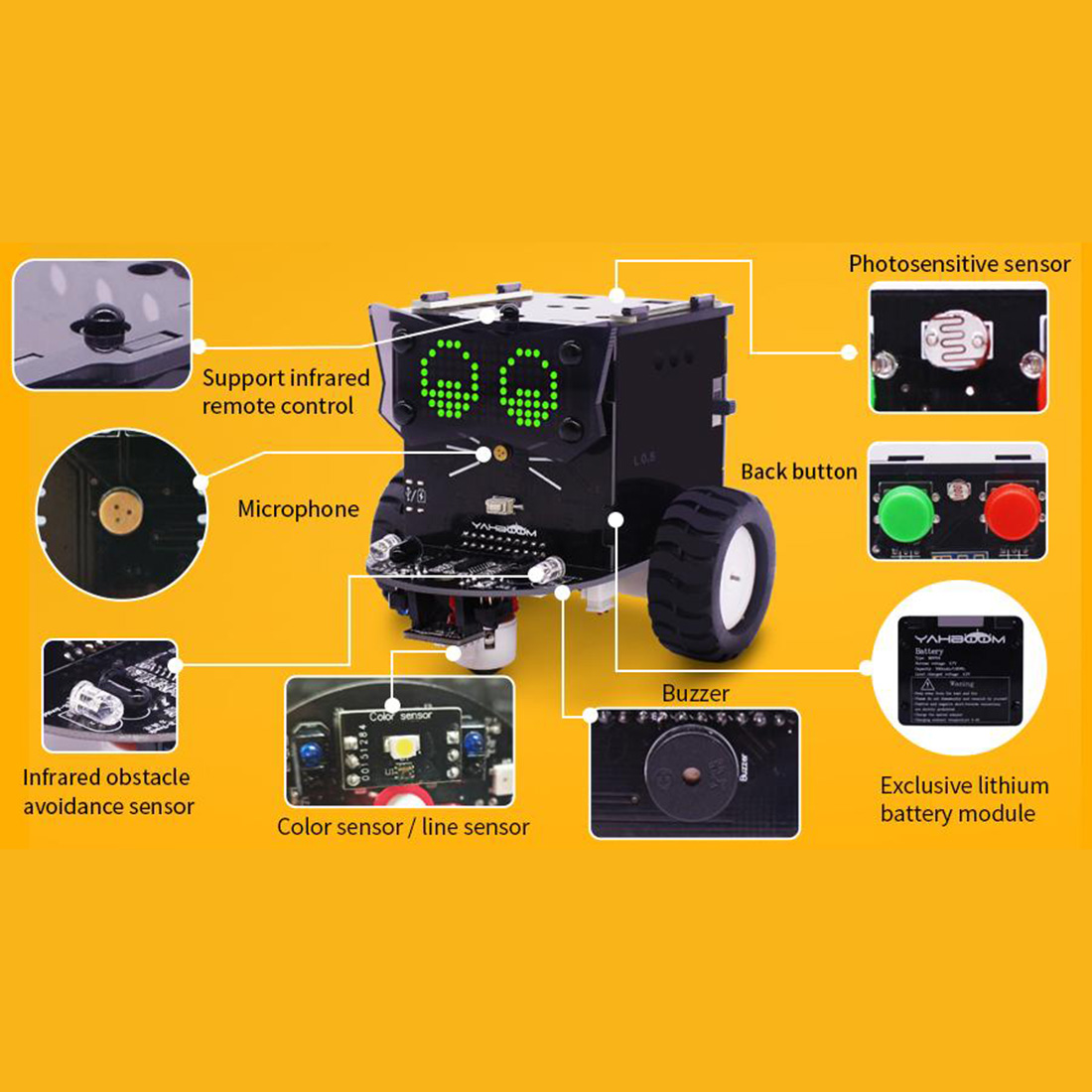 Versão padrão omibox zero programável robô carro