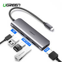 Ugreen USB C HDMI Cable Type C to HDMI VGA HUB Adapter USB-C HDMI Converter Type-C Thunderbolt 3 Dock for MacBook Huawei P30 Pro