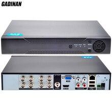 GADINAN CCTV Surveillance 8CH AHD 1080N Security Real Time DVR HVR HDMI AHDNH IP 1080P 5MP NVR Recorder Onvif AHD/TVI/CVI/CVBS