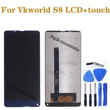 100% original Para VKworld S8 display LCD + de toque digitador da tela de substituição de componentes para VKworld s8 display LCD de peças de reparo