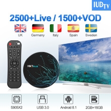 IUDTV HK1 PLUS IPTV Box Sweden Spain Italy Germany Android 8.1 2G+16G IP TV Nordic Greece
