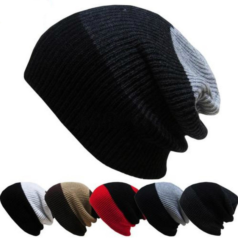 Women Men Warm Winter Baggy Beanie Knit Crochet Oversized Hat Unisex Slouch Cap unisex women warm winter baggy beanie knit crochet oversized hat slouch ski cap