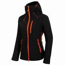 Autumn Fleece Heated Softshell Waterproof Outdoor Ski Jacket Women Mountain Climbing Rain Windbreaker Coat Hiking Jackets