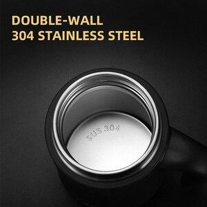Image 3 - Pinkah termos 380ml çay demlik kahve filtresi paslanmaz çelik vakum yalıtımlı kahve kupa ev ofis çay kulplu fincan