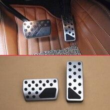 Стальная резиновая нескользящая Автомобильная педаль газового тормоза для Jeep Grand Cherokee WK2 2011- без буровой опоры для ног крышка акселератора