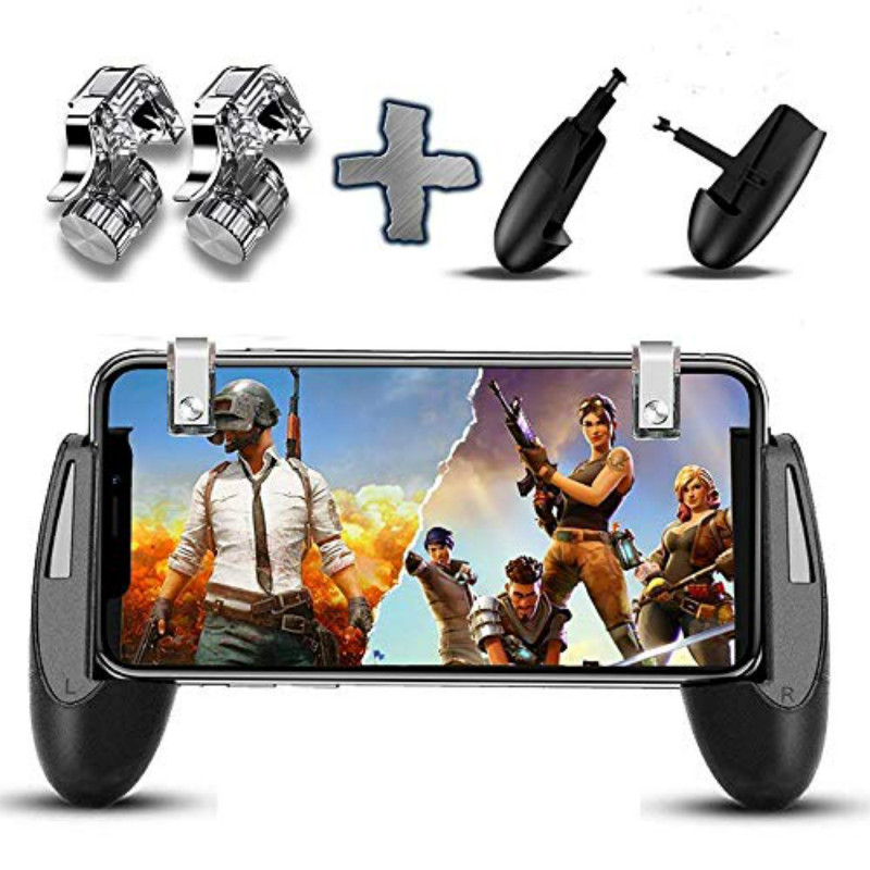Portable Phone button For PUBG STG FPS Game Trigger Phone Mobile Controller Fire Button Gamepad L1R1 Aim Key Joystick for iphone