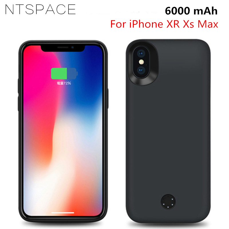 Cellphones & Telecommunications Ntspace 5000mah Portable Battery Charger Case For Iphone Xs Max Xr External Power Bank Back Clamp Charging Case Support Audio Phone Bags & Cases