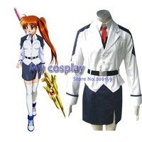 Mahou Shoujo Magical Girl Lyrical Nanoha Takamachi Cosplay Costume Freeshipping