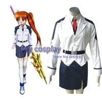 Mahou Shoujo Magical Girl Lyrical Nanoha Takamachi Cosplay Costume Freeshipping