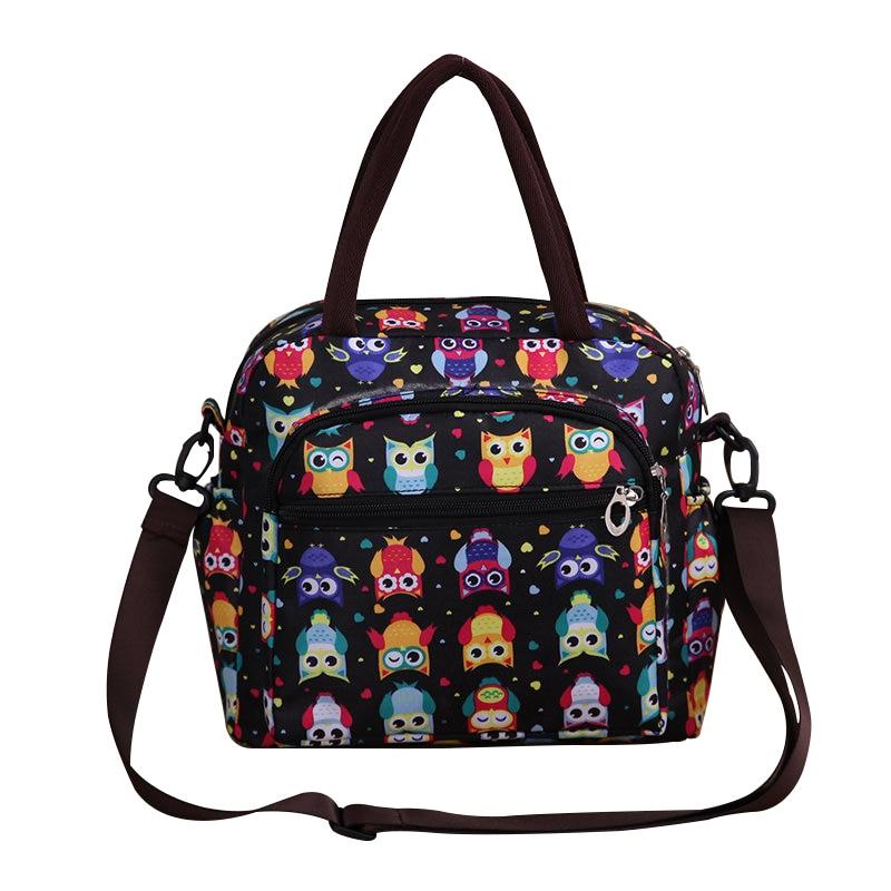 Cute Owls Pattern Women Shoulder Bag Mom Diaper Nappy Bag Baby Stroller Bag Maternity Handbag Portable Nursing Bag bolso materna